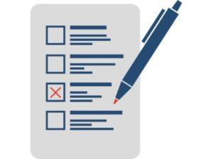 Pen marking a ballot