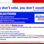 Front of Disability Vote Coalition postcard