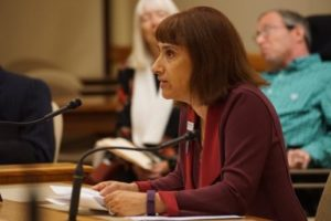 Barbara Beckert testifying at AB168 hearing