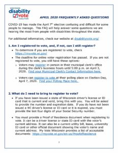 Front page of DVC April 2020 FAQ