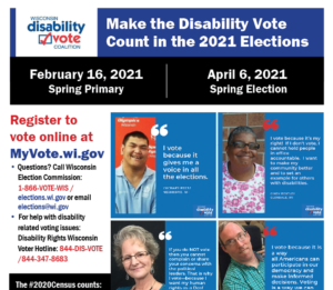DVC Make the Disability Vote Count Poster Preview