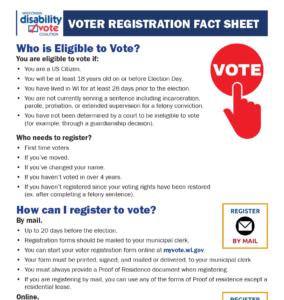 Thumbnail of Voter Registration Fact Sheet