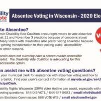 Absentee Voting fact sheet first page